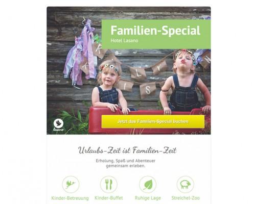 Landing Page Familienurlaub
