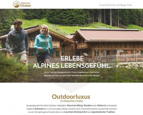Landing Page für Hotels